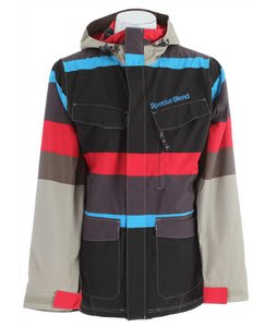 Special Blend Circa Snowboard Jacket Tan Lines Faded Out Stripes