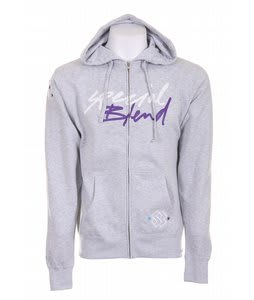 Special Blend Cursive Full Zip Hoodie Athletic Heather