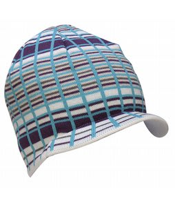 Special Blend Decon Plaid Visor Beanie White Deconstructed Plaid