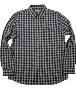 Special Blend Dress Up Shirt Baselayer Top Grey Buffalo Plaid