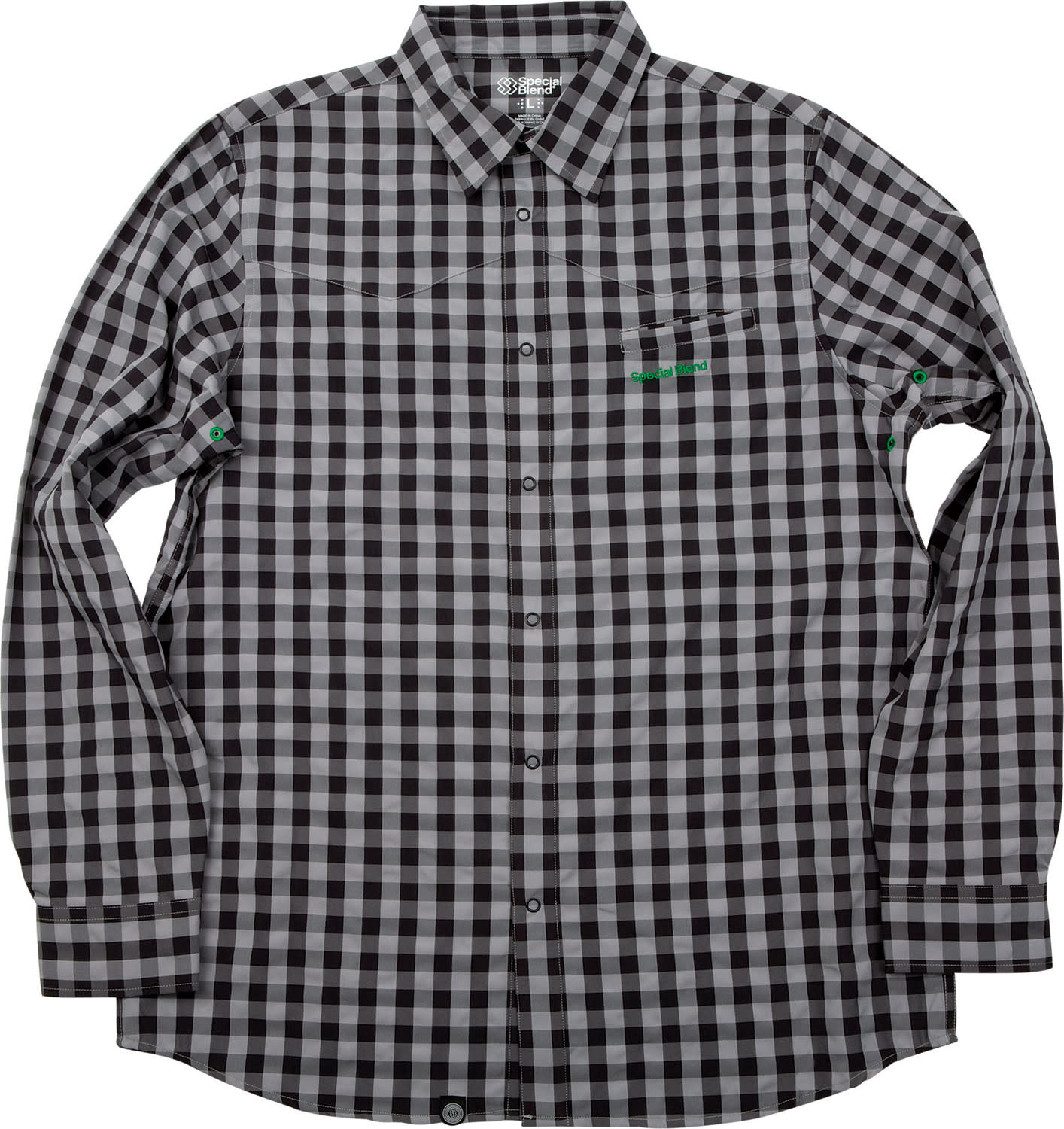 Shop for Special Blend Dress Up Shirt Baselayer Top Grey Buffalo Plaid - Men's