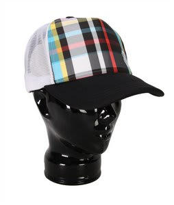 Special Blend Glam Plaid Trucker Hat Blackout Glam Plaid