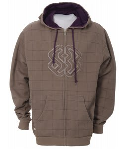 Special Blend Grid Check Zip Hoodie Tan Check Grid