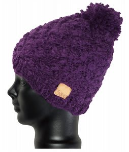 Special Blend Pom Pom Beanie Deep Purple