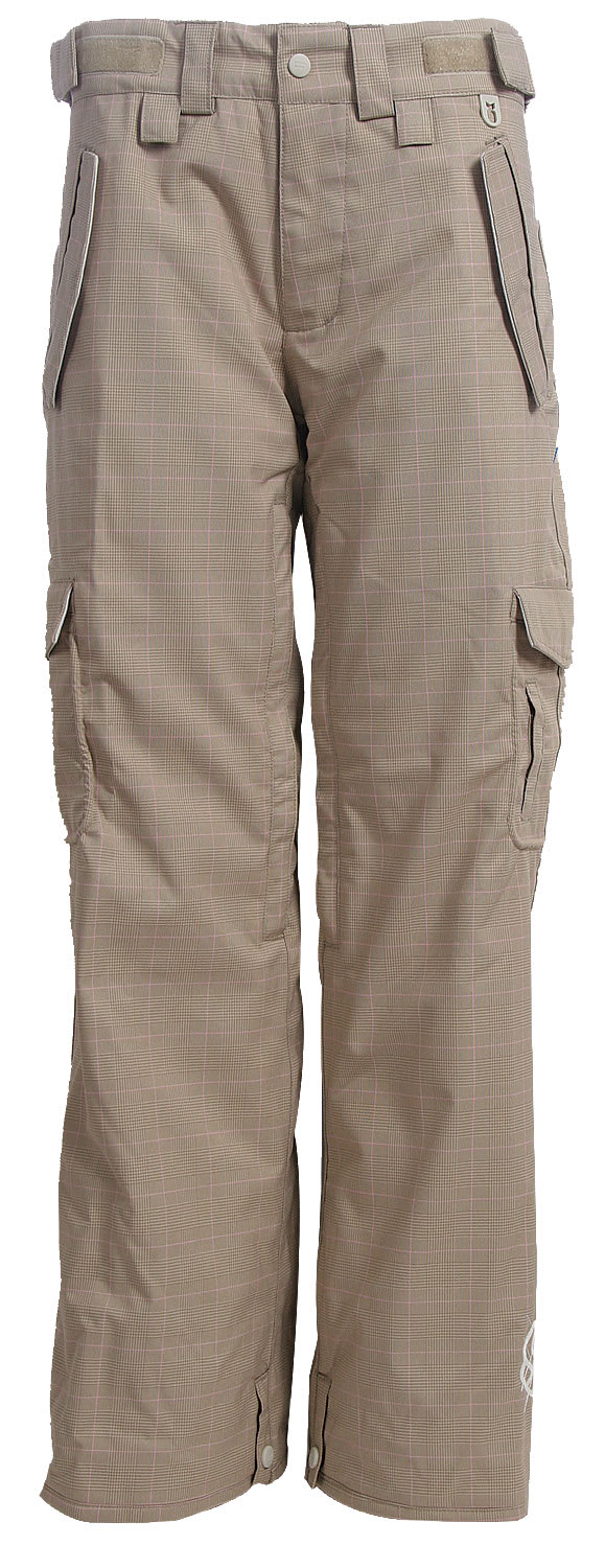 Shop for Special Blend Scarlet Snowboard Pants Tan Check Grid - Women's