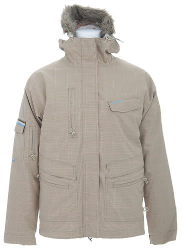 Special Blend Shifter Snowboard Jacket Tan Check Grid