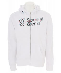 Special Blend Struggle Wordmark Full Zip Hoodie White
