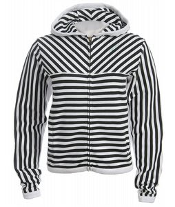 Special Blend Stripe Zip Hoodie Black Strp