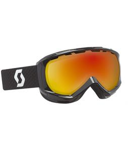 Scott Reply Goggles Black/Red Chrome Lens