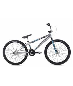 SE Floval Flyer 24 BMX Bike High Polish Silver 24in/21.2in Top Tube