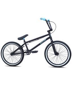 SE Hoodrich BMX Bike Black w/ Blue 20in/20.5in Top Tube