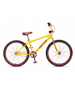 SE Om Flyer Adult Single Bike  Yellow 26in