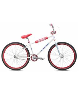 SE OM Flyer 26 BMX Bike White 26in/22.2in Top Tube