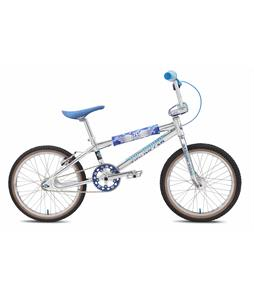 SE Pk Ripper Looptail BMX Bike High Polished Silver 20in/21in Top Tube