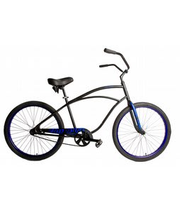 SE Rip Style Adult Beach Cruiser Bike Black 26