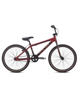 SE So Cal Flyer 24 BMX Bike Dark Matte Red 24in/21.4in Top Tube
