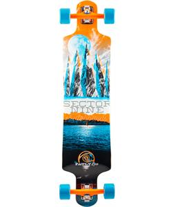 Sector 9 Faultline Platinum Longboard Complete Orange 39.5 x 9.75in