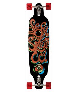 Sector 9 Fraction Sidewinder Longboard Complete Orange 9.0x36In