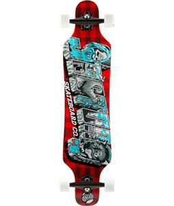 Sector 9 Mini Shaka Platinum Longboard Complete Red 40.25 x 9.75in