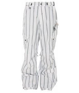 Sessions Achilles Snowboard Pants White/Black Pin Zip