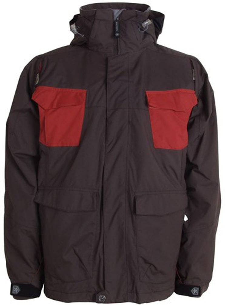 Shop for Sessions Combaticon Snowboard Jacket Brown/Chimayo - Men's