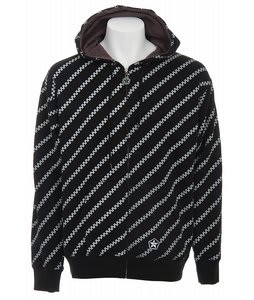 Sessions Diagonal Pin Zip Hoodie Black Magic