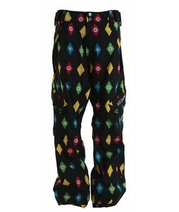 Sessions Gridlock Snowboard Pants Black Multi Stargyle