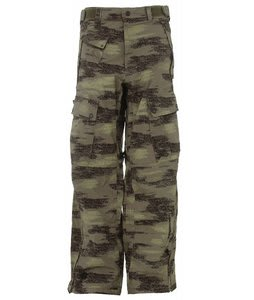 Sessions Movement Snowboard Pants Green Camo