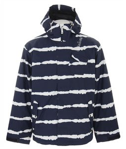 Sessions Pals Tie Stripe Snowboard Jacket Shadow Tie Stripe Mens