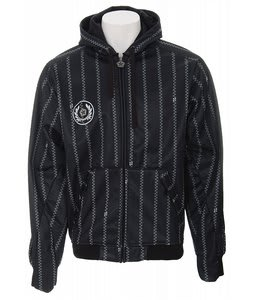 Sessions Pin Zip Softshell Hoodie Black/White Pin Zip