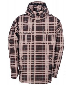 Sessions Rebellion Plaid Ski Jacket Brown Plaid
