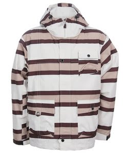 Sessions Shamrock Stripe Snowboard Jacket White/Khaki