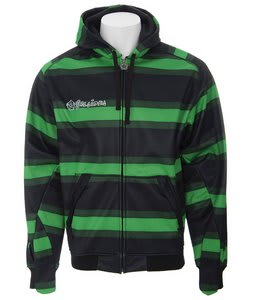 Sessions Stripe Softshell Hoodie Krypto Green Stripe