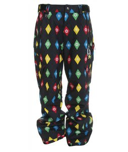 Sessions Achilles Stargyle Snowboard Pants Black Multi Stargyle