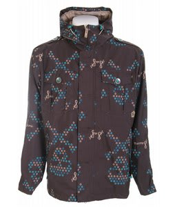 Sessions Barracks Snowboard Jacket Java Skullpill