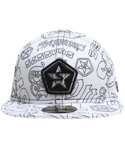 Sessions Boss Quilted New Era Hat Studio White