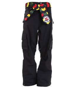 Sessions Bozung Snowboard Pants Black Magic