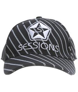 Sessions Diagonal Pinzip Hat Black Magic