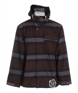 Sessions Flicker Stripe Snowboard Jacket Monument Stripe