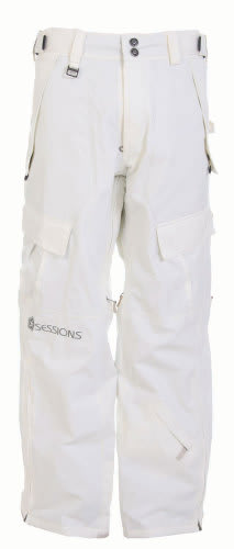 Sessions The Hot Snowboard Pants Smoke White