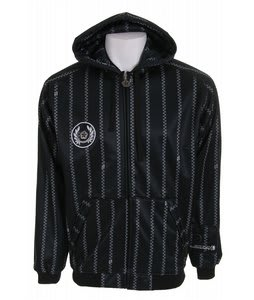 Sessions Pin Zip Skullcandy Softshell Hoodie Black/White Pinzip
