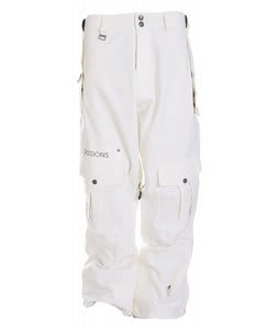 Sessions Serenity Snowboard Pants Smoke White