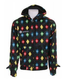 Sessions Stargyle Softshell Hoodie Black Multi Stargyle