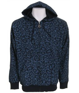 Sessions Swirl Zip Hoodie Blue Print