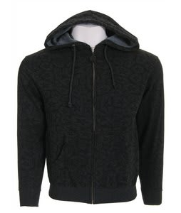 Sessions Swirl Zip Hoodie Charcoal Heather