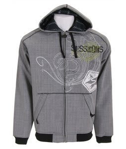 Sessions Woven Softshell Hoodie Black Magic