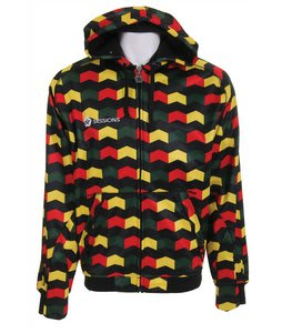 Sessions Zigzag Softshell Hoodie Rasta Zigzag