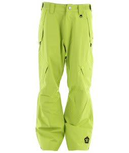 Sessions Achilles Shell Snowboard Pants Lime 