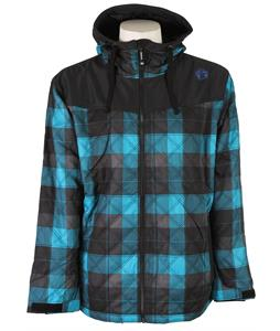 Sessions Backcountry Plaid Snowboard Jacket Blue Plaid