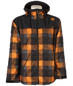 Sessions Backcountry Plaid Snowboard Jacket Orange Plaid